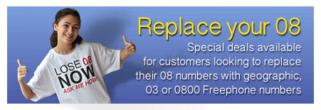 Replace your 08 numbers